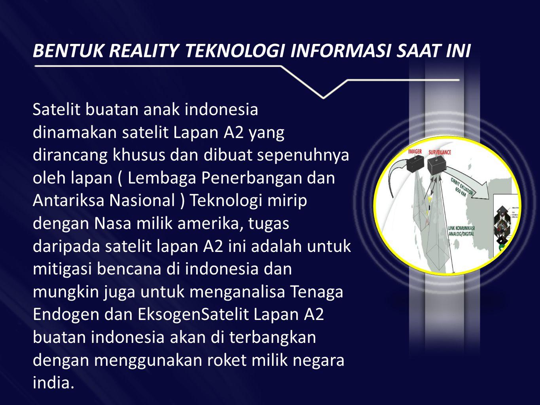 BENTUK REALITY TEKNOLOGI INFORMASI SAAT INI