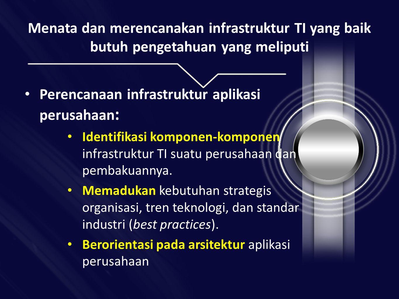 Perencanaan infrastruktur aplikasi perusahaan: