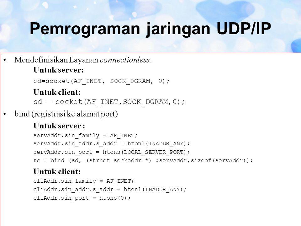 Pemrograman jaringan UDP/IP