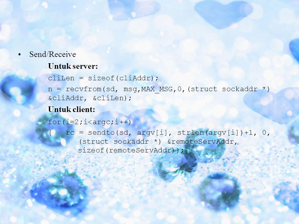 cliLen = sizeof(cliAddr);