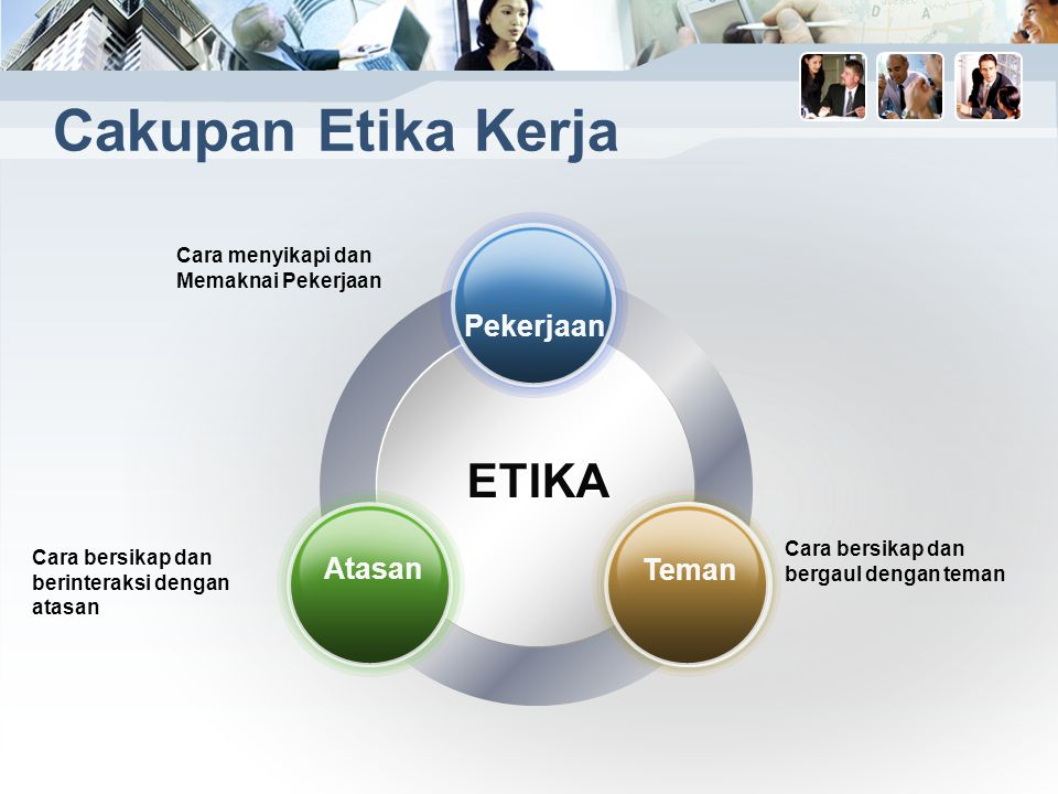 Cakupan Etika Kerja ETIKA Pekerjaan Atasan Teman