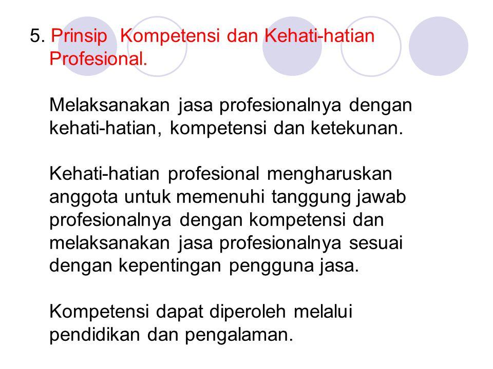 5. Prinsip Kompetensi dan Kehati-hatian Profesional