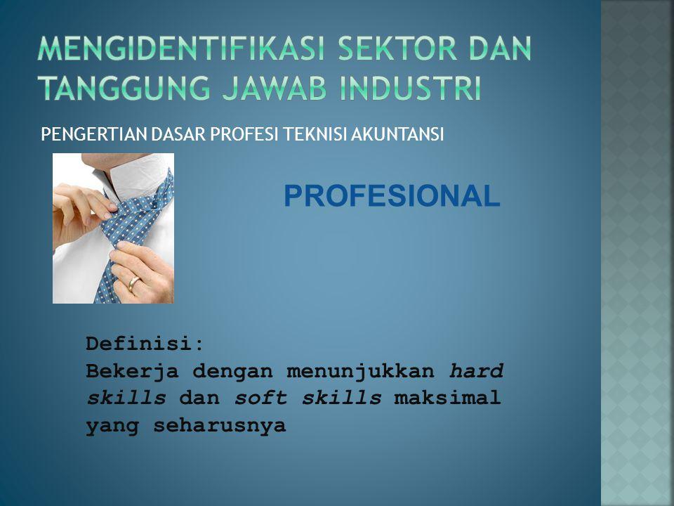 Mengidentifikasi sektor dan tanggung jawab industri