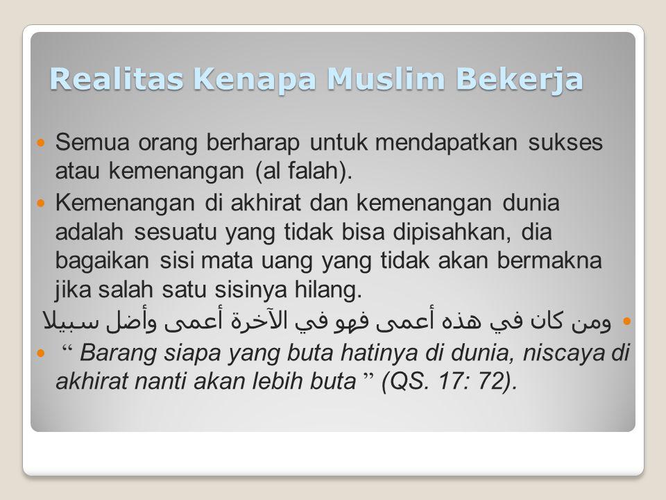 Realitas Kenapa Muslim Bekerja