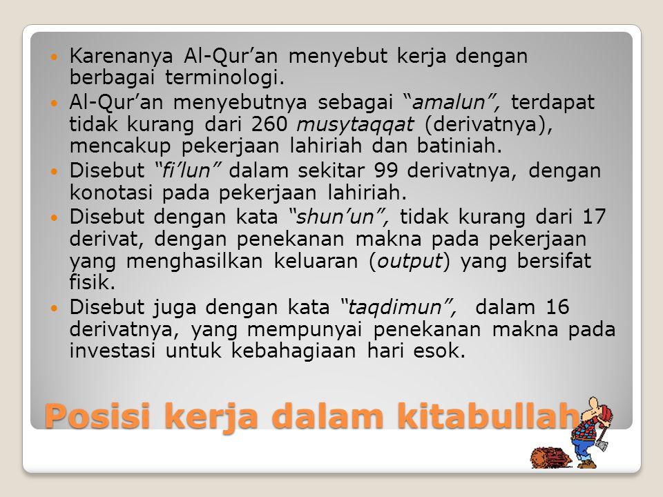 Posisi kerja dalam kitabullah