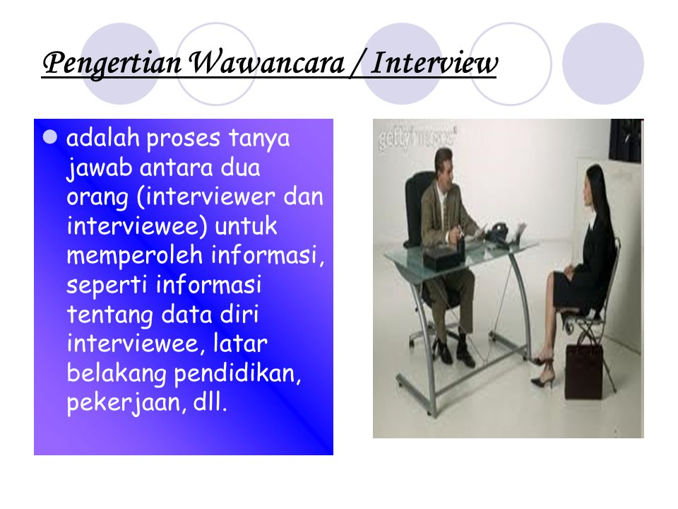 Pengertian Wawancara / Interview