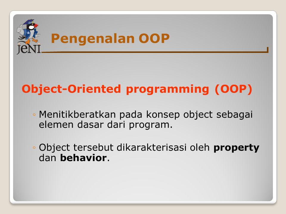 Pengenalan OOP Object-Oriented programming (OOP)