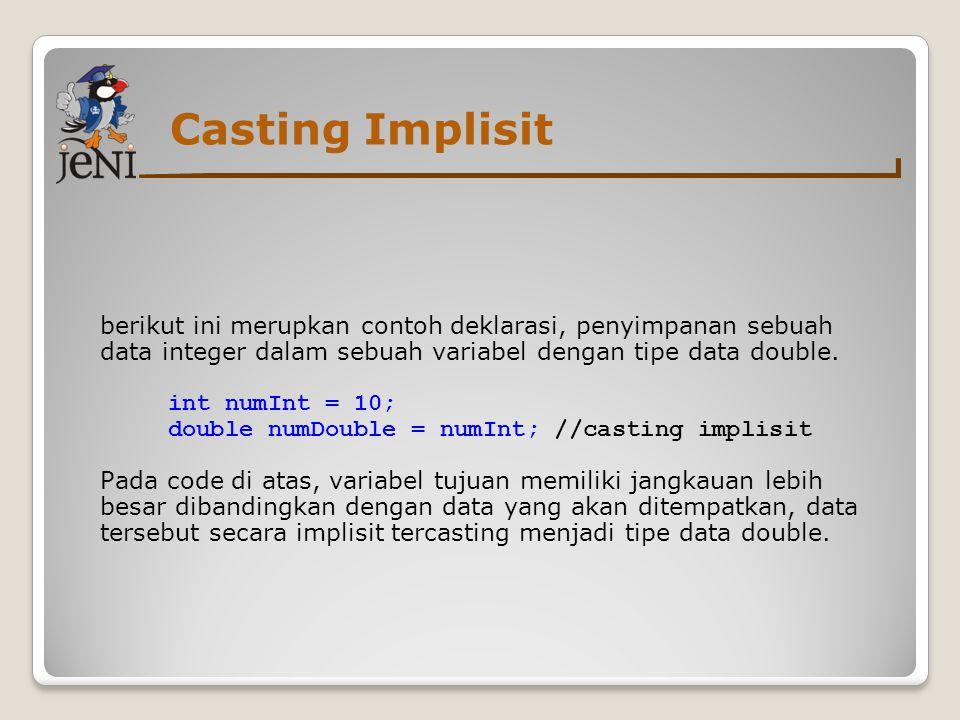 Casting Implisit