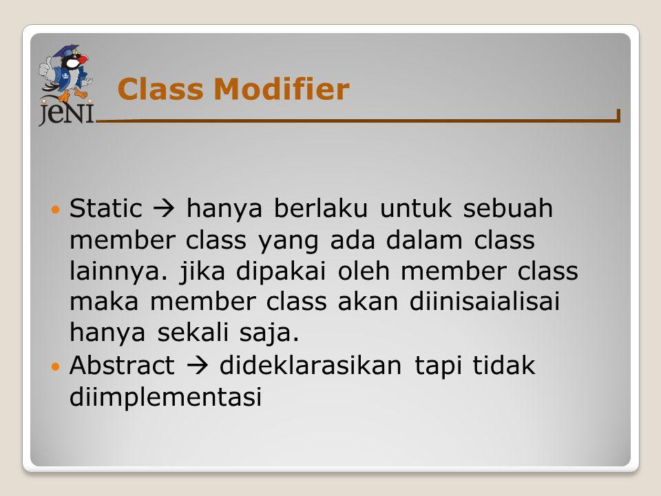 Class Modifier