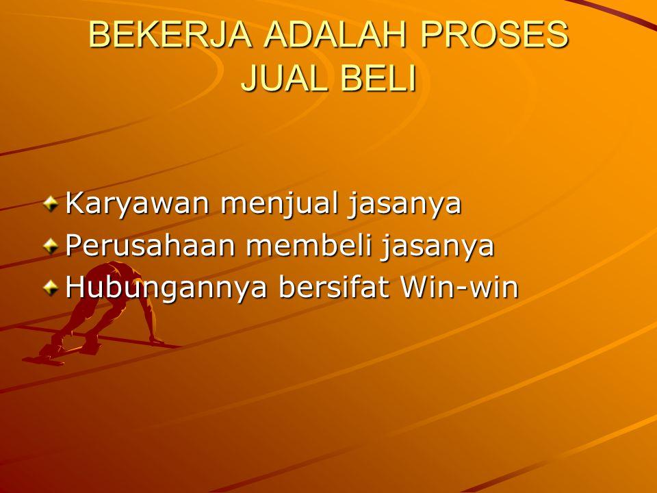 BEKERJA ADALAH PROSES JUAL BELI