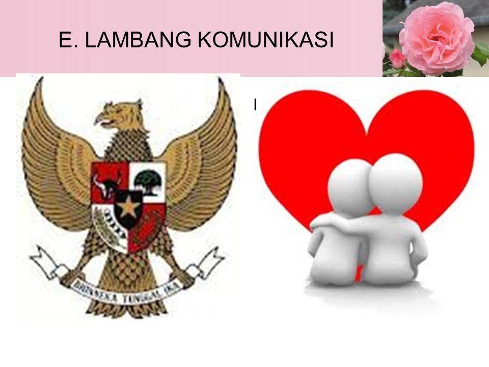 E. LAMBANG KOMUNIKASI Garuda Pancasila L O V E