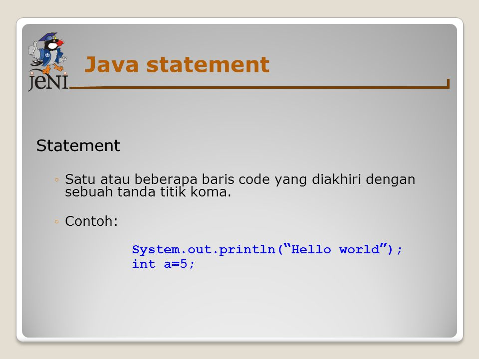 Java statement Statement