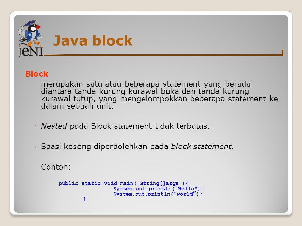 Java block Block.