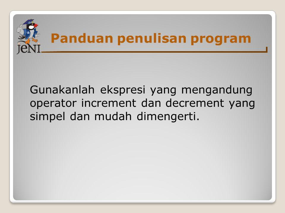 Panduan penulisan program