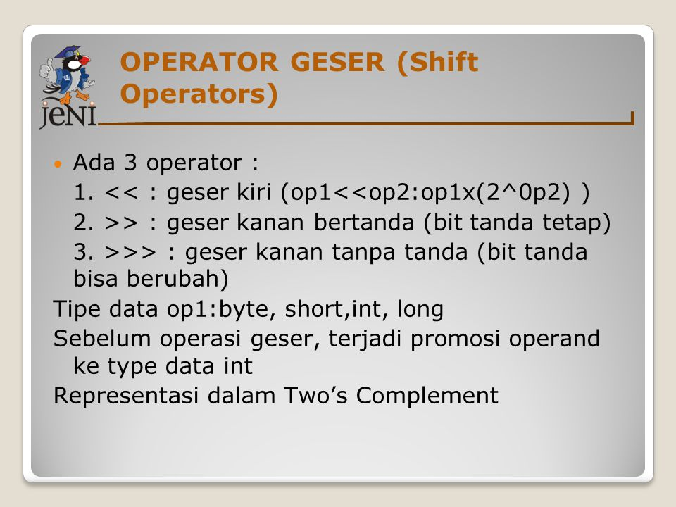 OPERATOR GESER (Shift Operators)