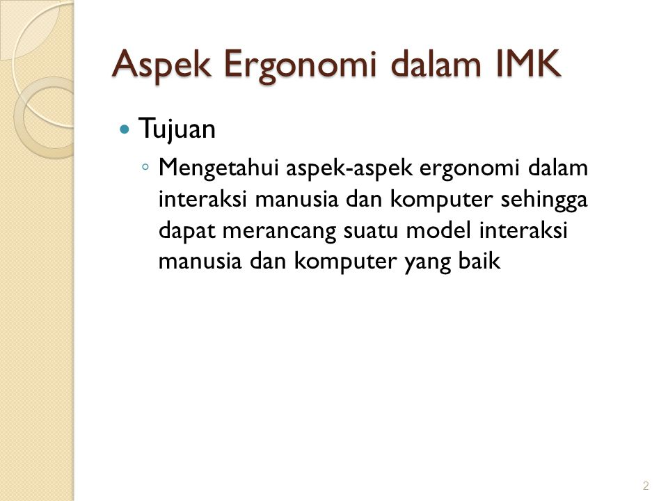 Aspek Ergonomi dalam IMK