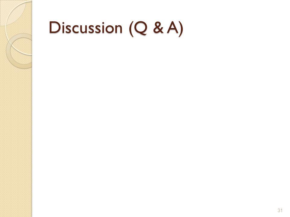 Discussion (Q & A)