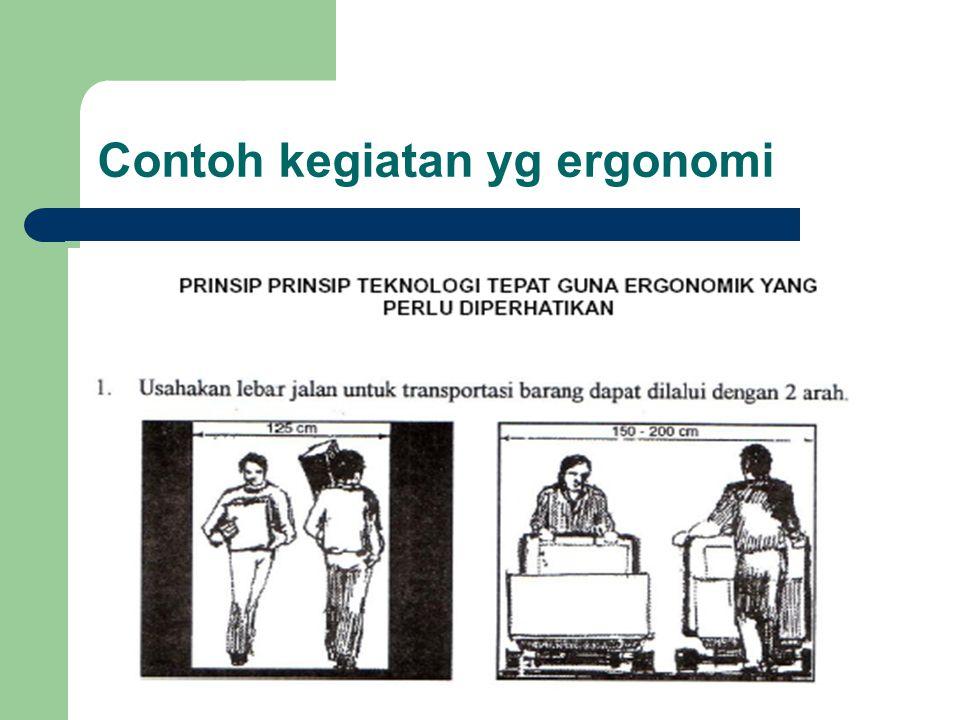 Contoh kegiatan yg ergonomi