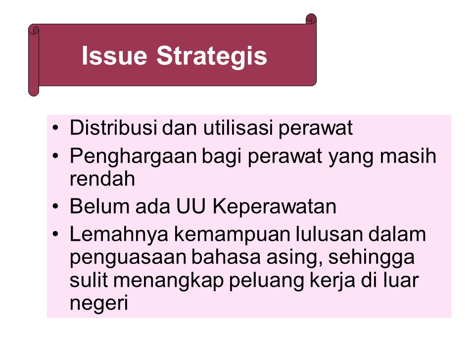 Issue Strategis Distribusi dan utilisasi perawat