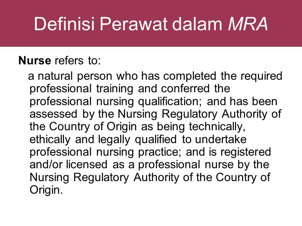Definisi Perawat dalam MRA
