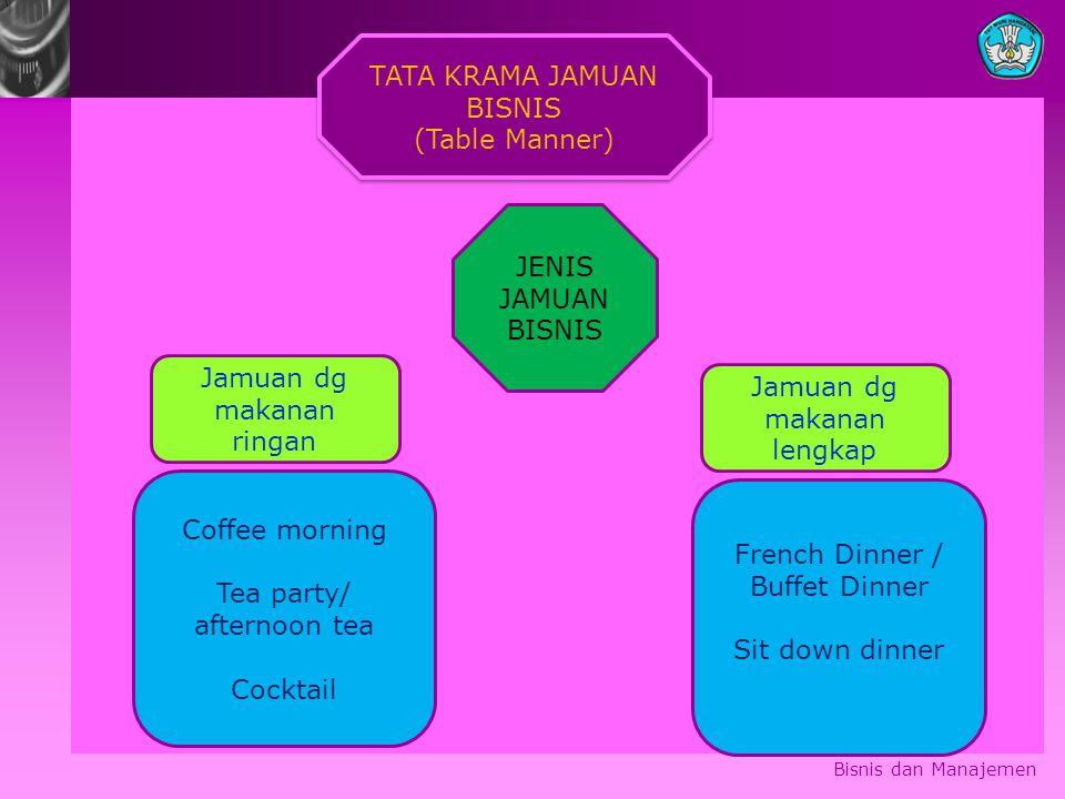 TATA KRAMA JAMUAN BISNIS (Table Manner)