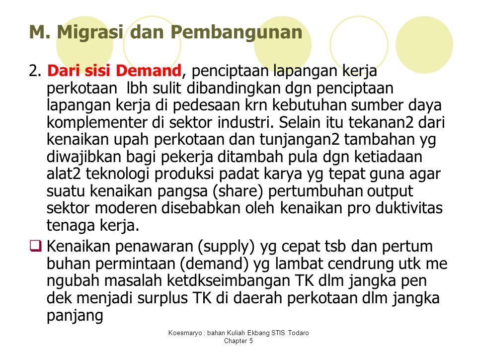 M. Migrasi dan Pembangunan