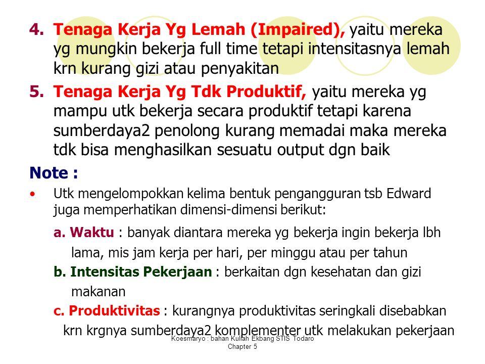 Koesmaryo : bahan Kuliah Ekbang STIS Todaro Chapter 5