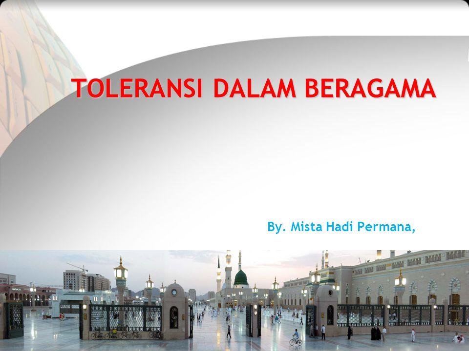 TOLERANSI DALAM BERAGAMA