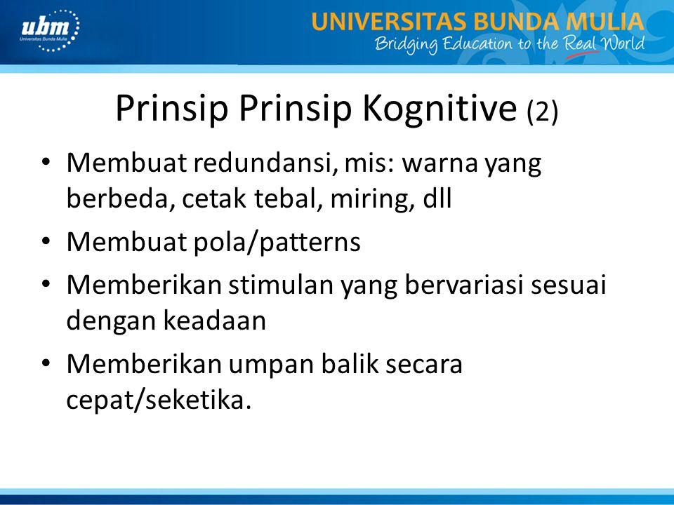 Prinsip Prinsip Kognitive (2)