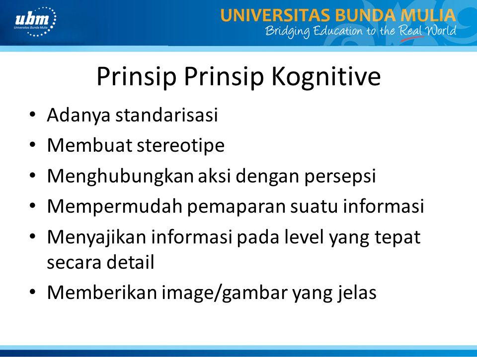 Prinsip Prinsip Kognitive