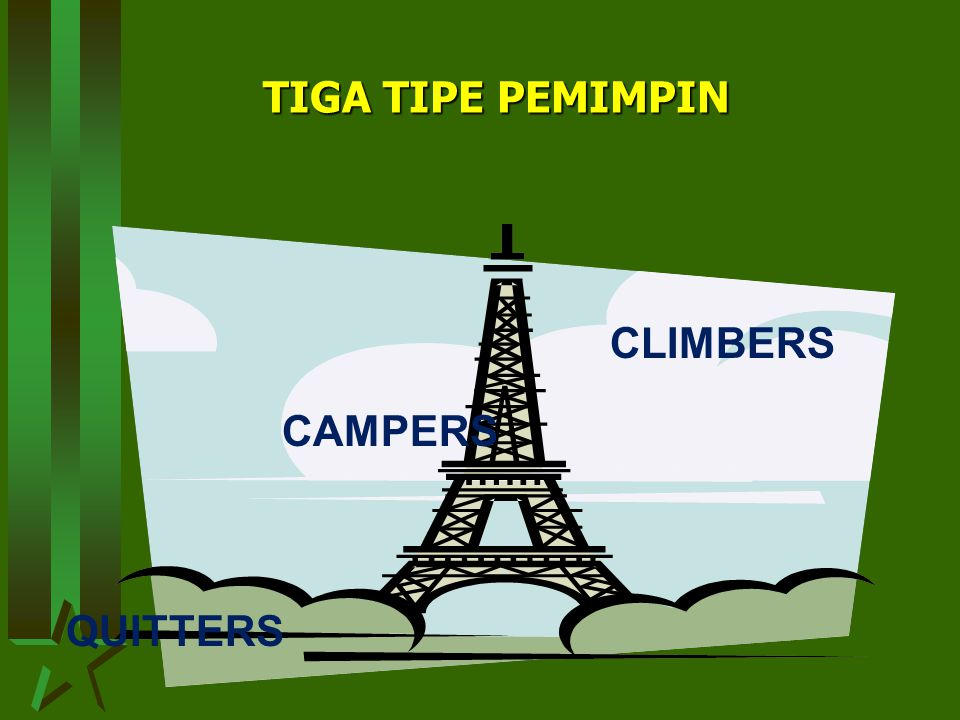 TIGA TIPE PEMIMPIN CLIMBERS CAMPERS QUITTERS