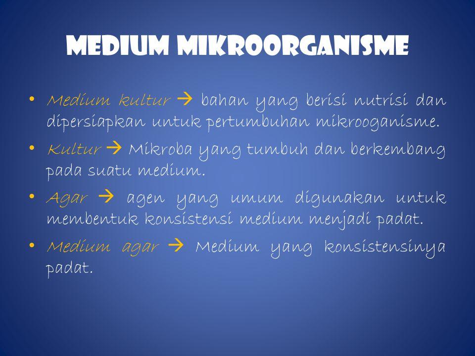 MEDIum MIKROORGANISME