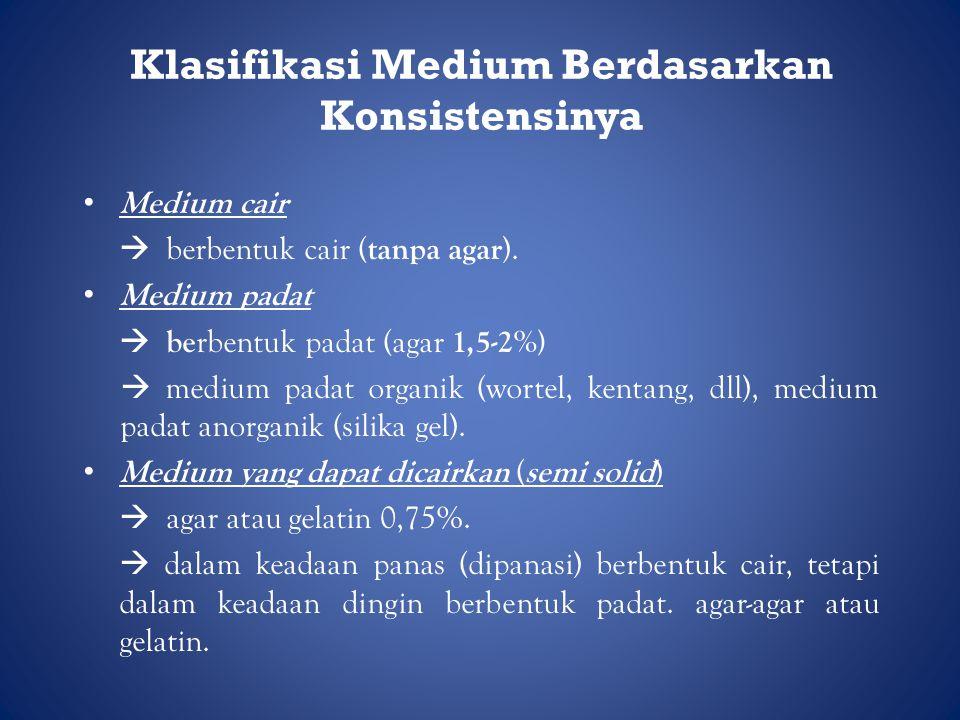 Klasifikasi Medium Berdasarkan Konsistensinya
