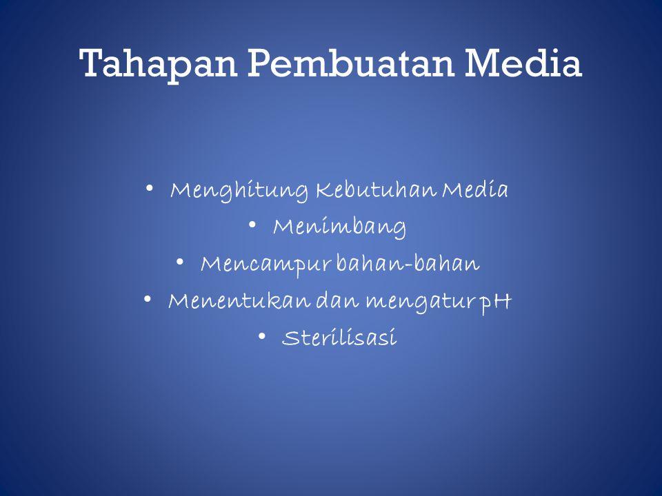 Tahapan Pembuatan Media