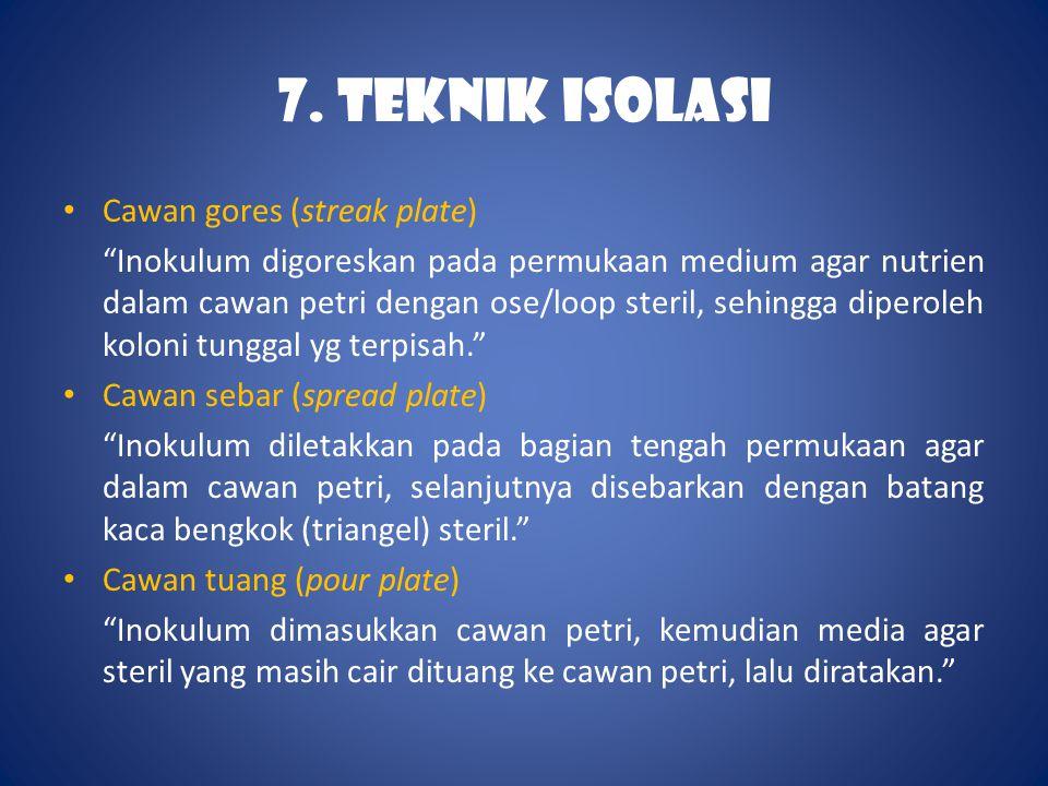 7. TEKNIK ISOLASI Cawan gores (streak plate)