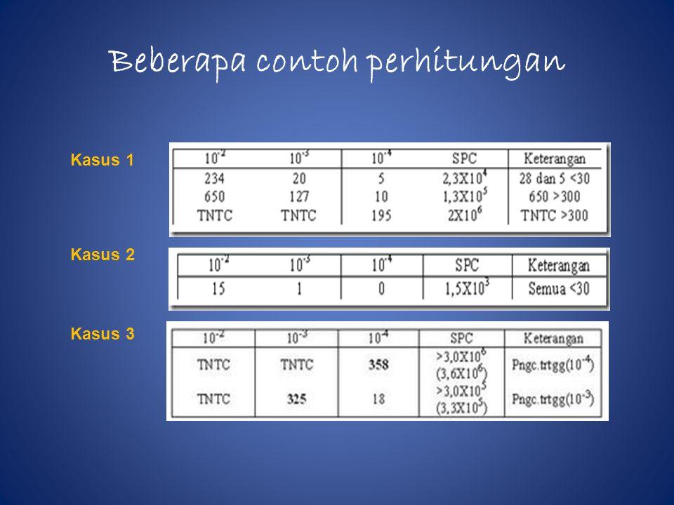 Beberapa contoh perhitungan