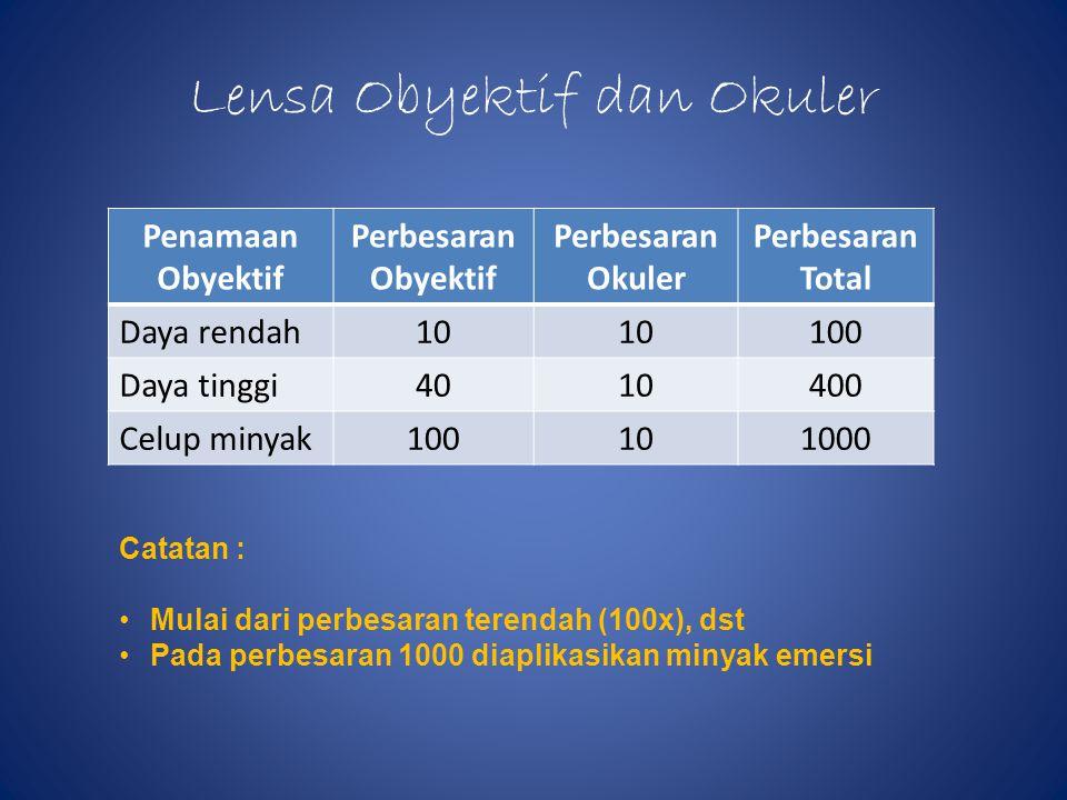 Lensa Obyektif dan Okuler