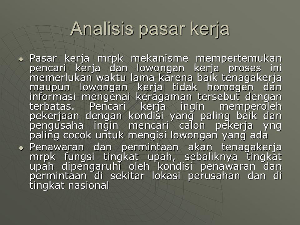 Analisis pasar kerja