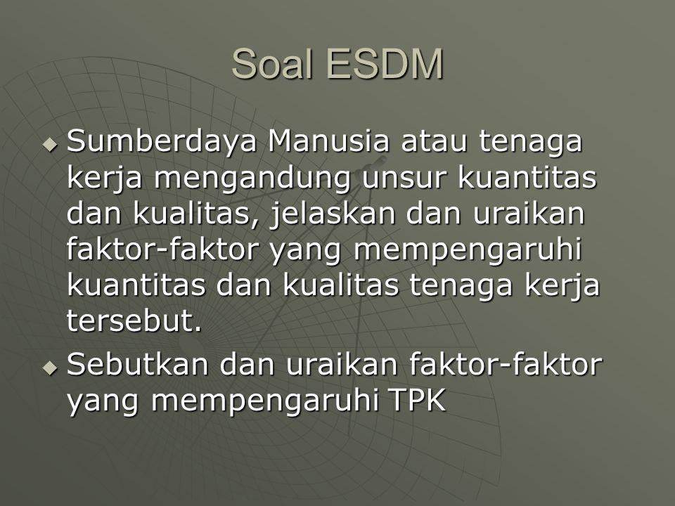 Soal ESDM