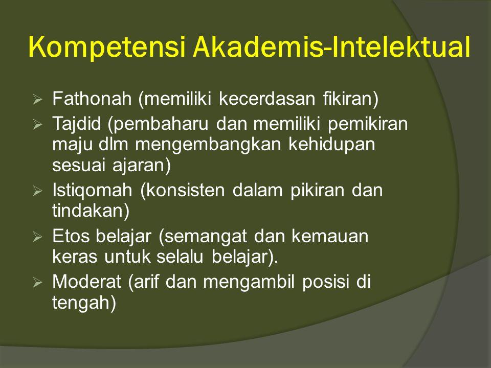 Kompetensi Akademis-Intelektual