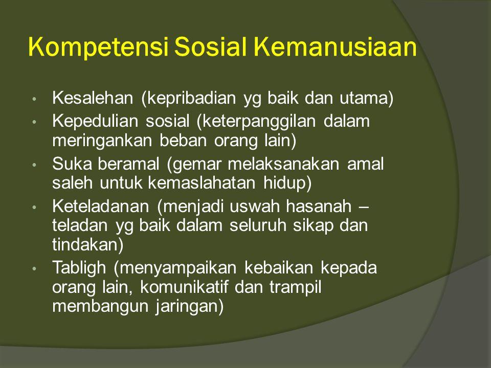 Kompetensi Sosial Kemanusiaan