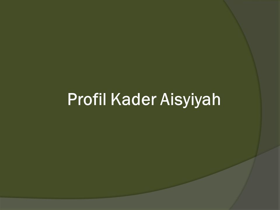 Profil Kader Aisyiyah