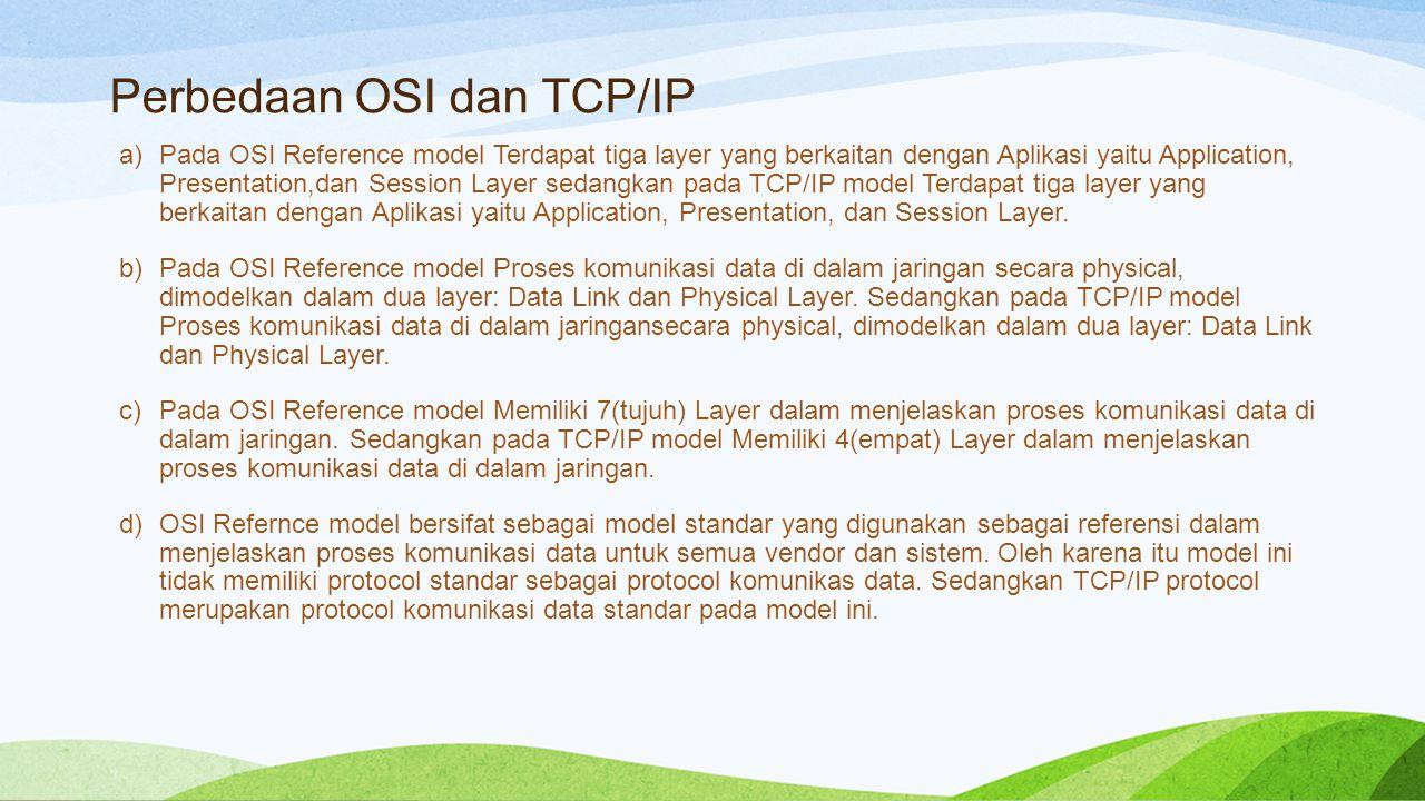 Perbedaan OSI dan TCP/IP