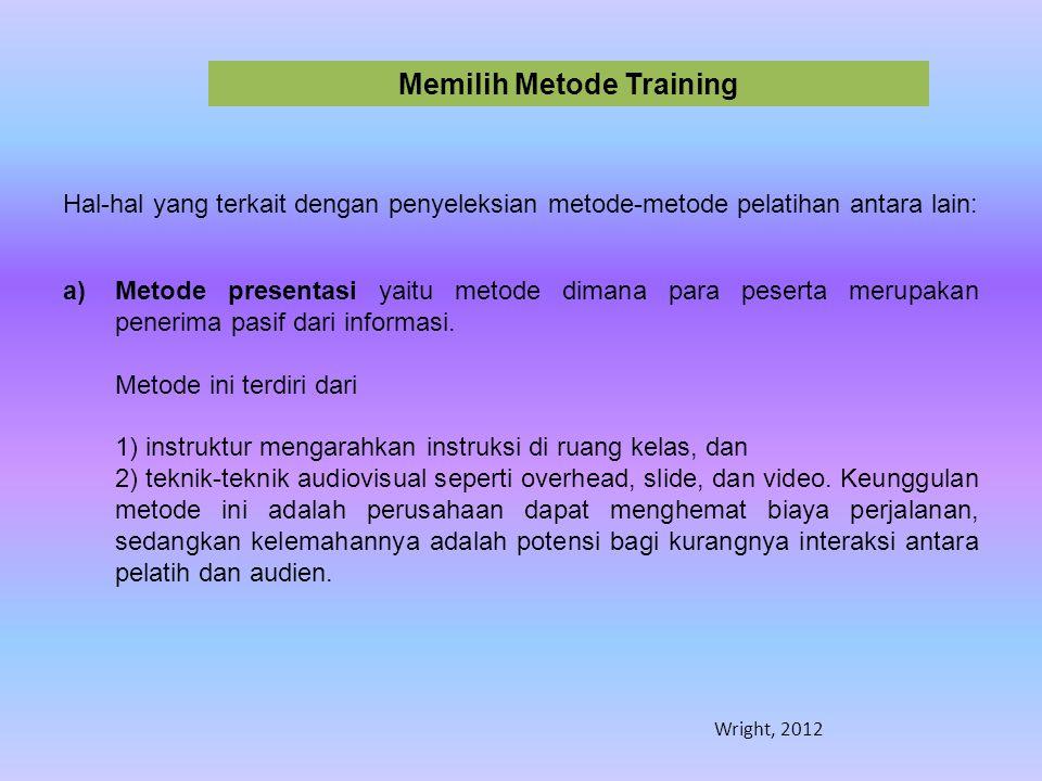 Memilih Metode Training