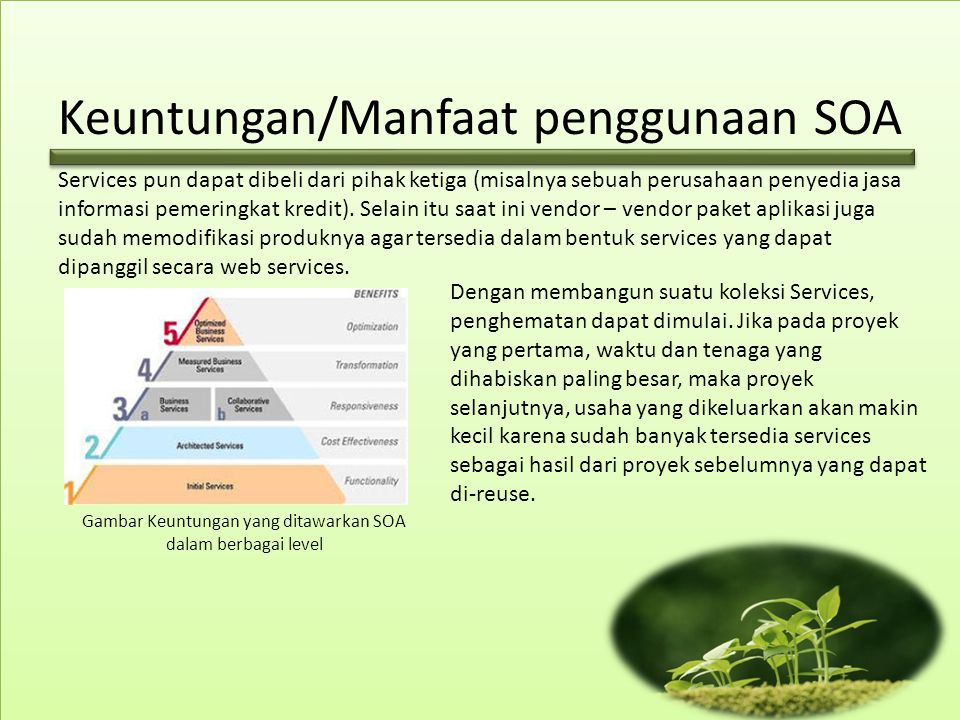 Keuntungan/Manfaat penggunaan SOA