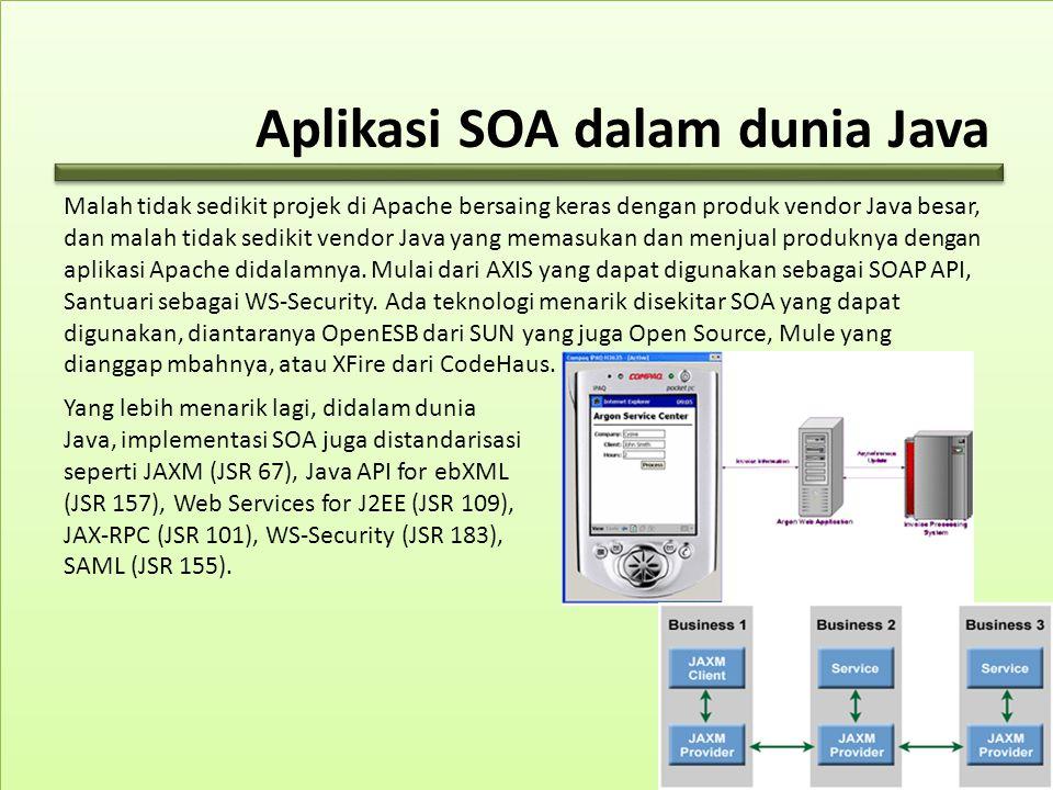 Aplikasi SOA dalam dunia Java