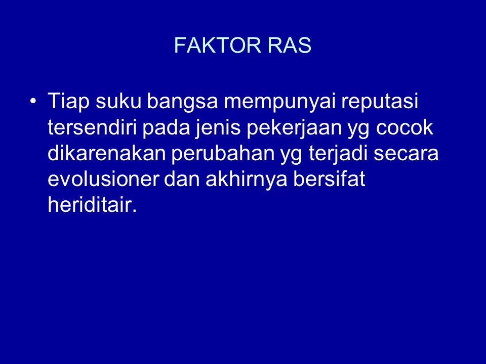 FAKTOR RAS