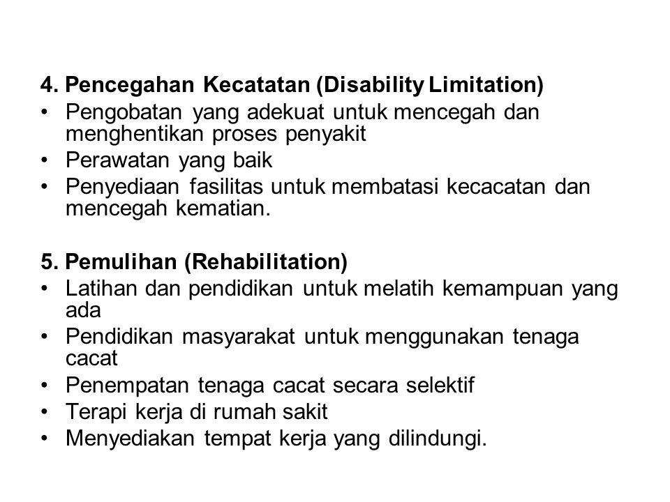4. Pencegahan Kecatatan (Disability Limitation)