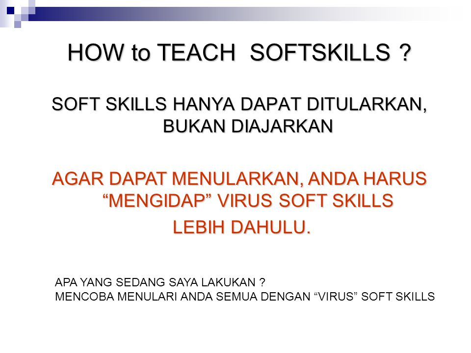 HOW to TEACH SOFTSKILLS