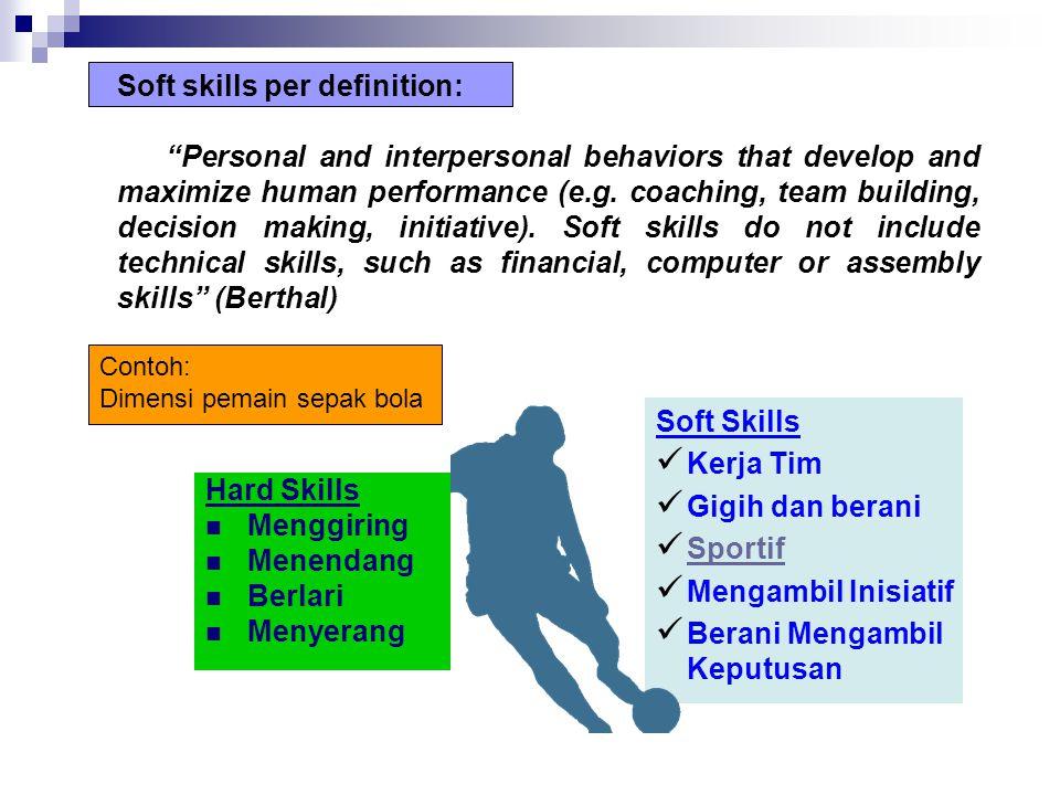 Soft skills per definition:
